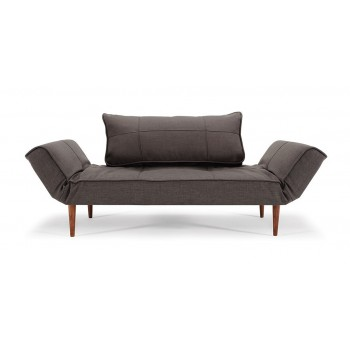 Zeal Deluxe Daybed, 745 Basic Gravel Fabric + Dark Wood Legs