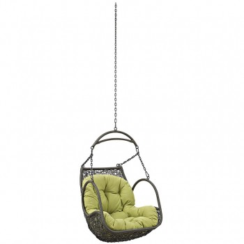 Arbor Outdoor Patio Wood Swing Chair Without Stand, Peridot by Modway