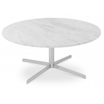 Diana Coffee Table, Chrome, Marble by SohoConcept Furniture
