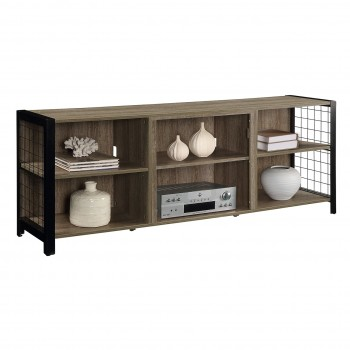 Asher MDF Media Console, Tudor Oak