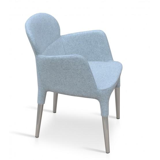 Rosa Arm Chair, Silver Camira Wool photo
