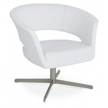 Ada 4 Star Base Armchair, White PPM by SohoConcept Furniture