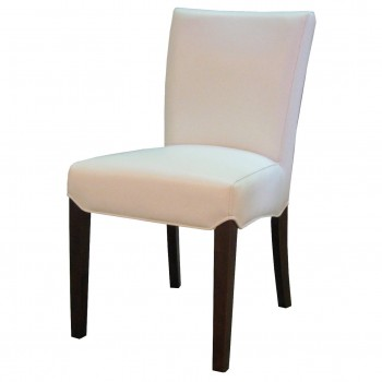 Beverly Hills Bonded Leather Chair, White, Set of 2 by NPD (New Pacific Direct)