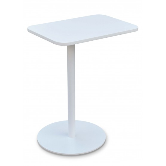 Harvard End Table Swivel, White photo