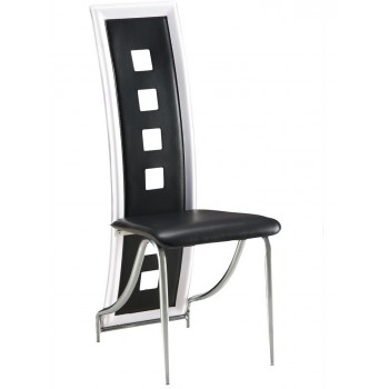 D803-BL Dining Chair, Black