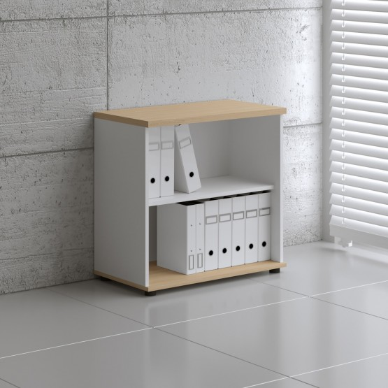Basic K2504 Open Storage, White + Beech photo