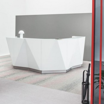 Alpa ALP14 Reception Desk, White