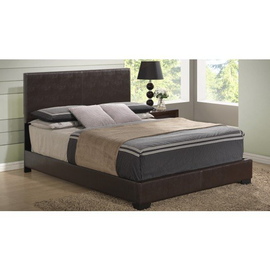 8103 Queen Size Bed, Brown photo