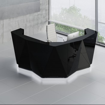 Alpa ALP14 Reception Desk, Black