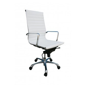 Comfy High Back Office Chair, White by J&M Furniture