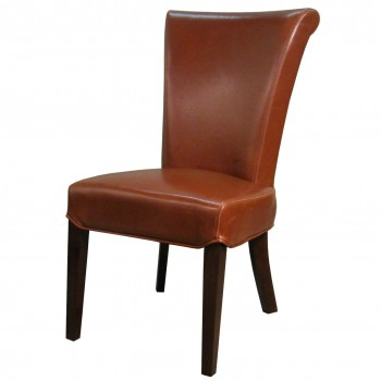 Bentley Bonded Leather Chair, Cognac, Set of 2 by NPD (New Pacific Direct)