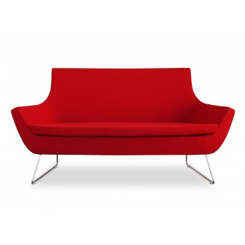 Rebecca Wire Sled Two Seater, Red Camira Wool by SohoConcept Furniture