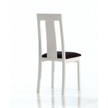 Ania Dining Chair, White Base, Black Upholstery