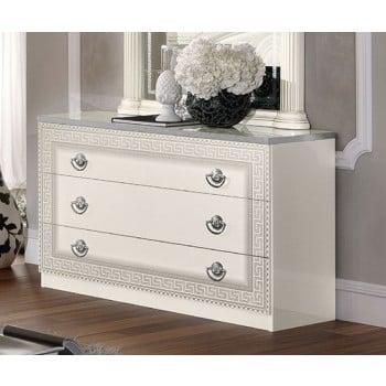 Aida Single Dresser, White