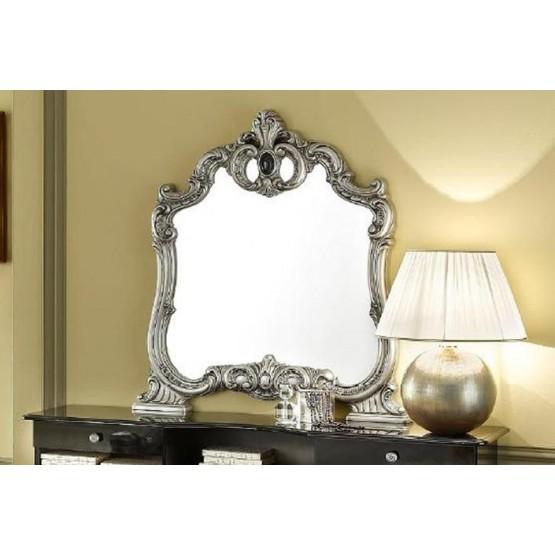 Barocco Mirror, Black + Silver photo