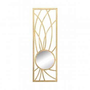 Elan Metal Frame Wall Mirror In Gold