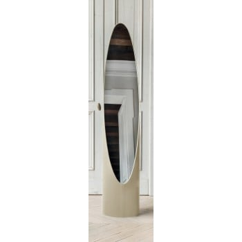 Kolonaky Mirror, Beige Eco-Leather