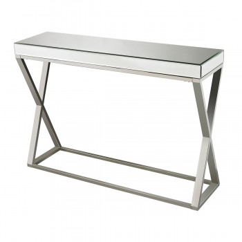 Klein Mirror And Stainless Console Table