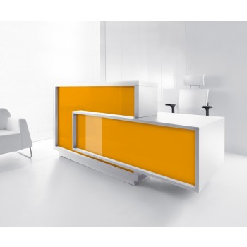 FORO LF10 Reception Desk, High Gloss Orange
