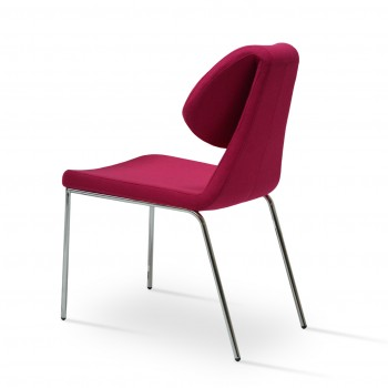 Gakko Chair, Chrome, Pink Wool by SohoConcept Furniture