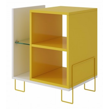 Boden Bookcase 2.0, White + Yellow