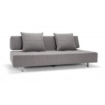 Long Horn Sofa Bed, 565 Twist Granite Fabric
