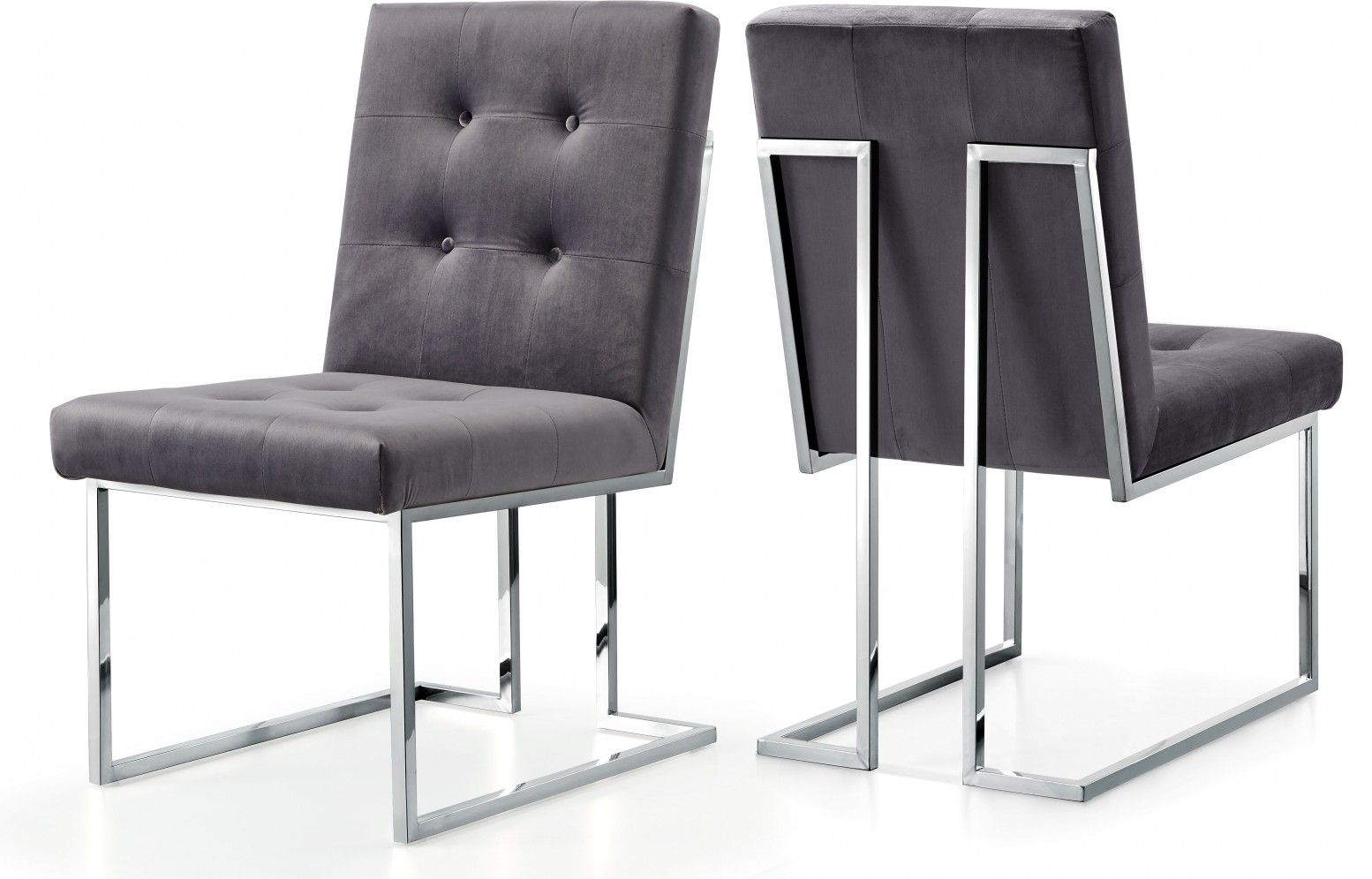 Alexis Velvet Dining Chair Grey Buy Online At Best Price