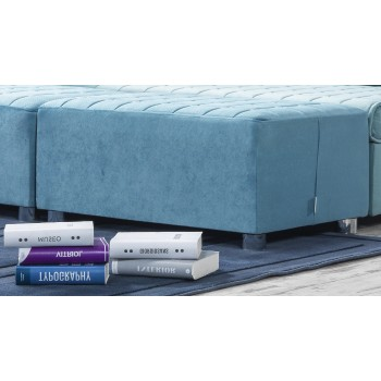 Day & Night Ottoman, Etro Turquoise by Casamode