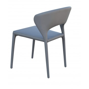Prada Full Upholstered Stackable Chair, Grey PPM by SohoConcept Furniture