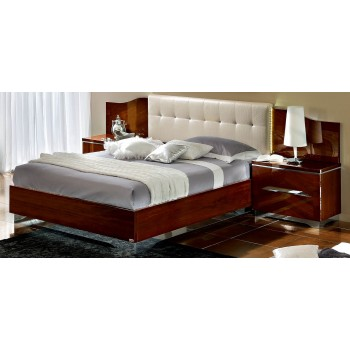 Matrix Queen Size Bed, White Headboard