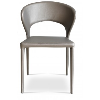 Prada Full Upholstered Stackable Chair, Grey & Bronze PPM by SohoConcept Furniture