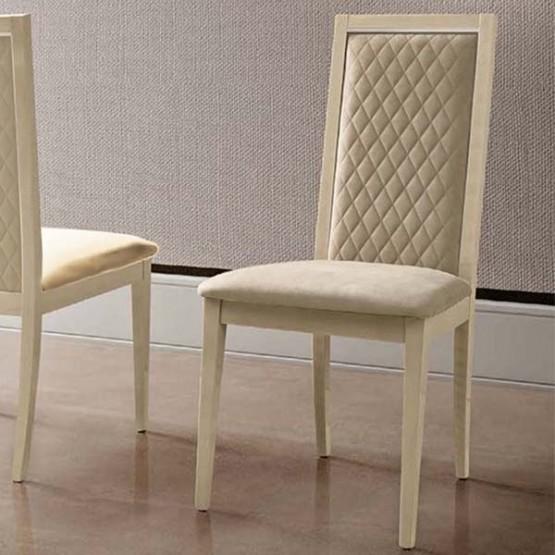 Ambra Rombi Dining Chair, Beige Eco Nubuck photo