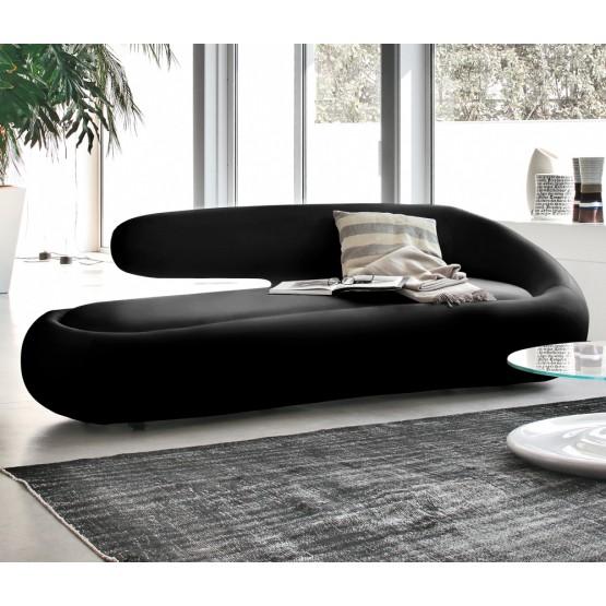 Duny Sofa, Black Leather photo