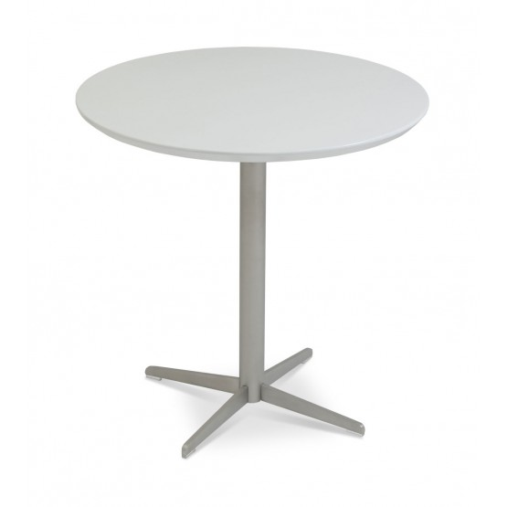 Diana End Table, White Lacquer photo