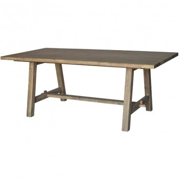 "Bedford 79"" Rectangular Dining Table w/""A"" Base, Brushed Smoke by NPD (New Pacific Direct)"