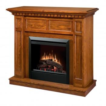 """Caprice Fireplace, Oak Finish, 23"""" Log Set Firebox"""