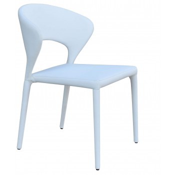 Prada Full Upholstered Stackable Chair, White PPM by SohoConcept Furniture