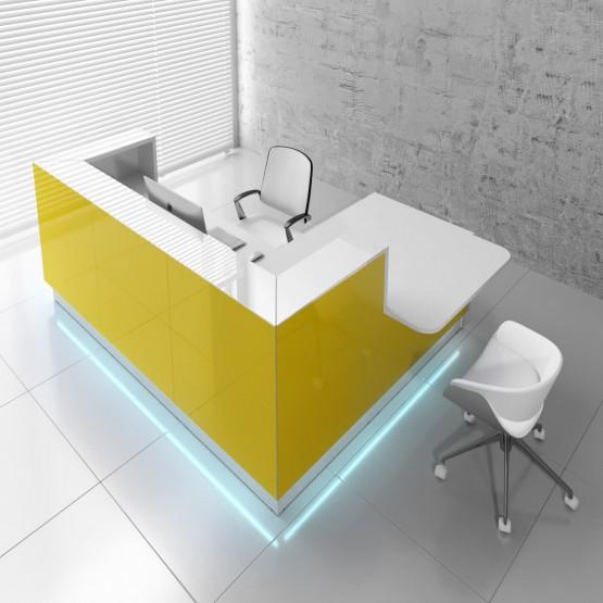 Linea LIN411L Reception Desk, Yellow photo