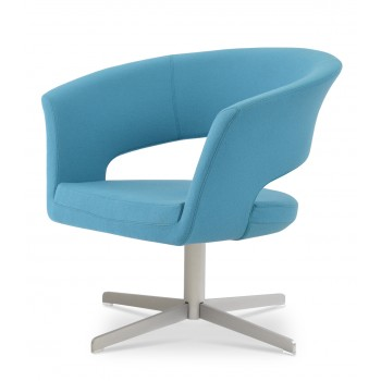 Ada 4 Star Base Armchair, Turquoise Camira Wool by SohoConcept Furniture