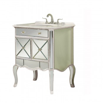 Camille MF3-5106SC Cabinet, Silver + Clear Mirror