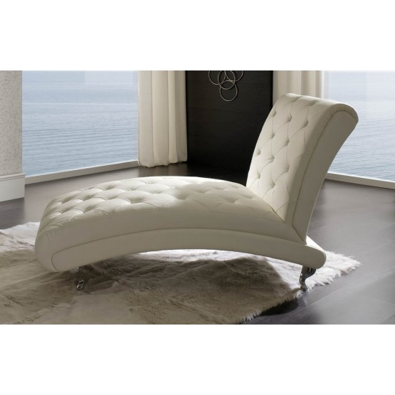 Nelly B6 Chaise Lounge, White photo