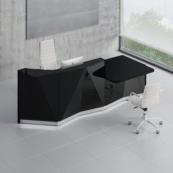 Alpa ALP22L Reception Desk, Black