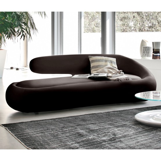 Duny Sofa, Dark Brown Leather photo
