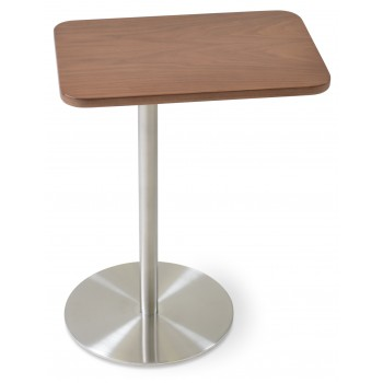 Harvard End Table Swivel, Walnut by SohoConcept Furniture