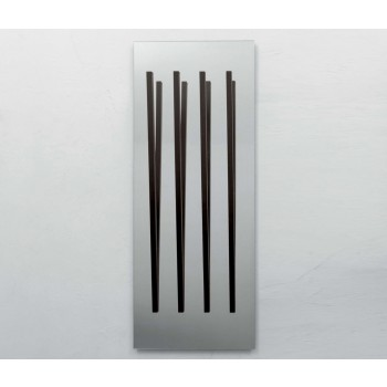 Alicante Silver Mirror with Coat Hanger, Dark Oak Heat-Treated