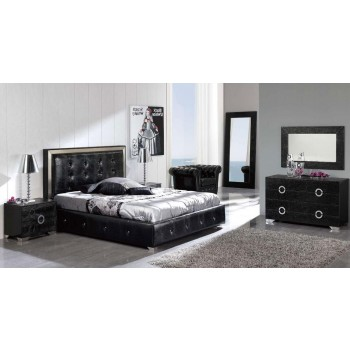 Coco 3-Piece Queen Size Storage Bedroom Set, Black