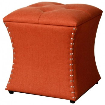Amelia Nailhead Ottoman, Persimmon by NPD (New Pacific Direct)
