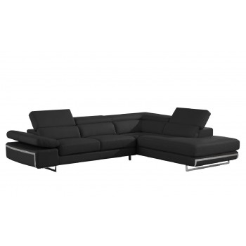 Bart Sectional, Right Arm Chaise Facing, Black