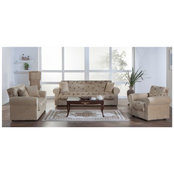 Elita S 3-Piece Living Room Set, Yasemin Beige