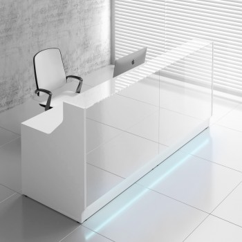 Linea LIN20 Reception Desk, White